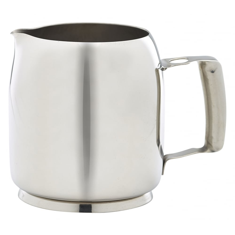 genware stainless steel premier milk jug 350ml 12oz crosbys. Black Bedroom Furniture Sets. Home Design Ideas