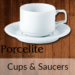 Porcelite Cups and Saucers