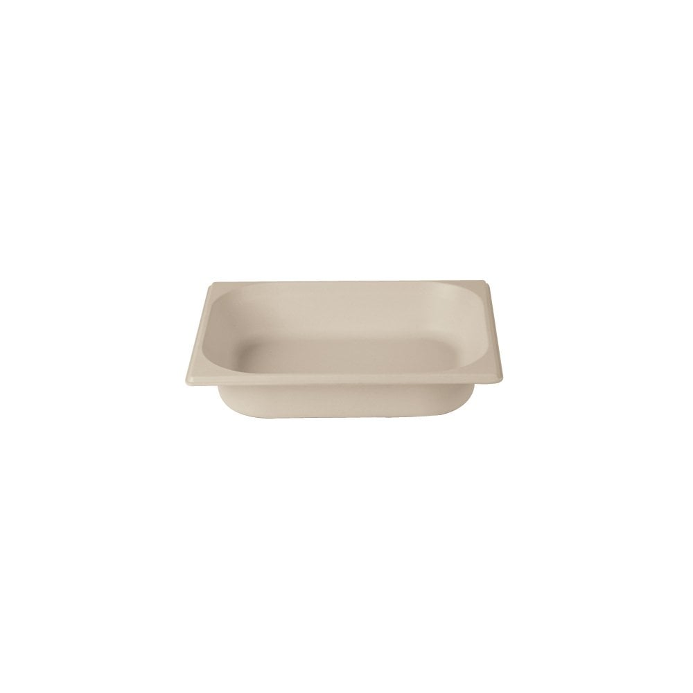 DPS GN 1/2 65mm Gastronorm Bamboo Natural White - Front Of