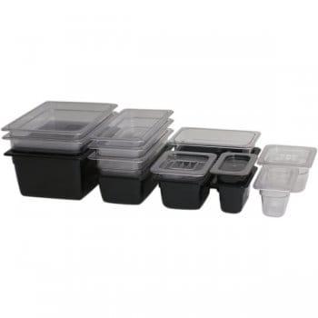 Food Storage Bin Lid 1/2 GN Clear Poly Lid