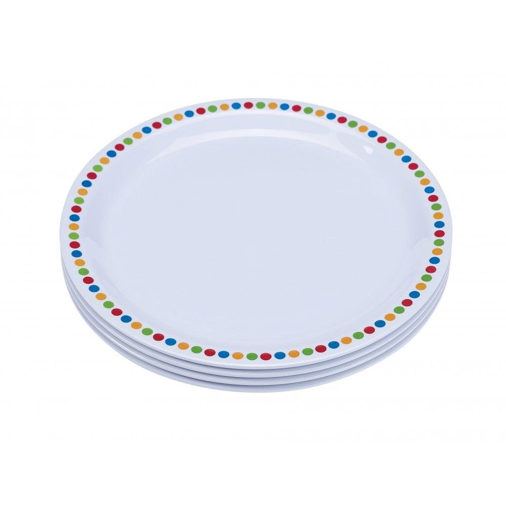 23cm Melamine Plates - Coloured Circles | Pack of 12  sc 1 st  Crosbys & Genware 23cm Melamine Plates - Coloured Circles | Pack of 12 | Crosbys