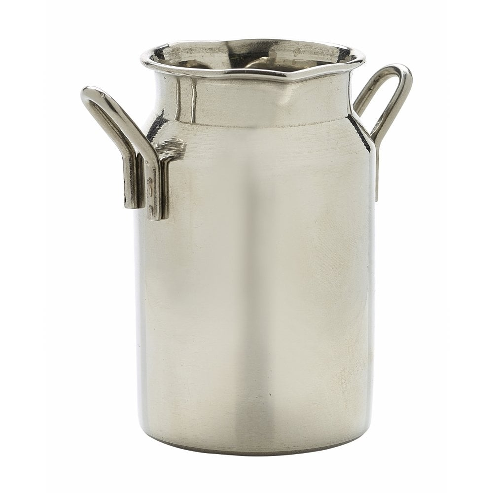 Genware Stainless Steel Mini Milk Churn 140ml Crosbys
