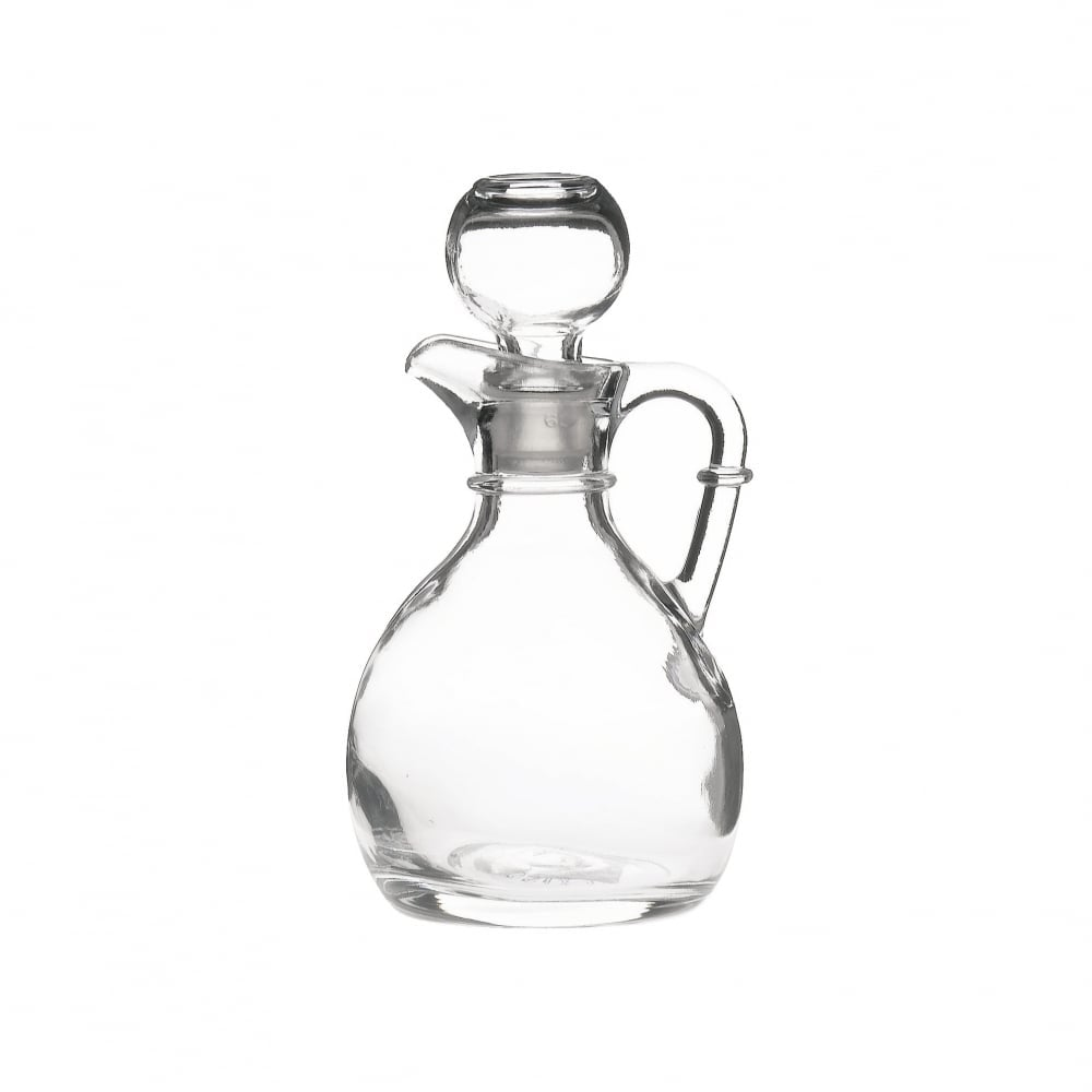 Oil & Vinegar Cruet Set - Cambridge Amber Glass - Farber