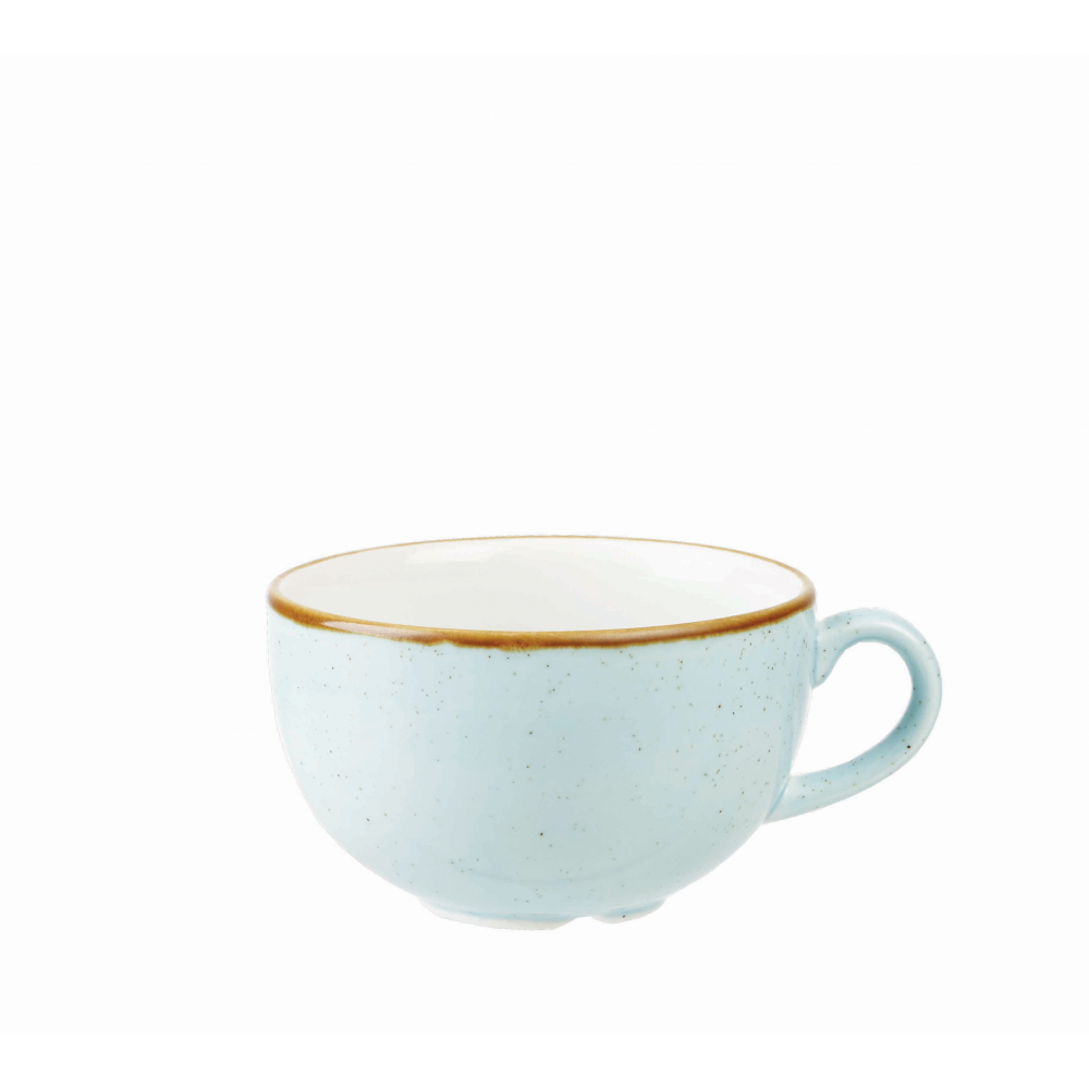 Stonecast Cappuccino Cup 500ml 17 5oz - Duck Egg Blue | Pack of 6