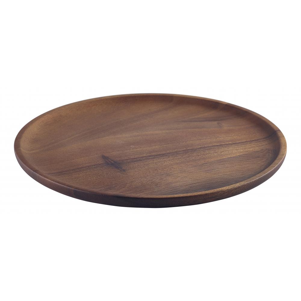 Acacia Wood Serving Plate 26cm  sc 1 st  Crosbys & Genware Acacia Wood Serving Plate 26cm | Crosbys
