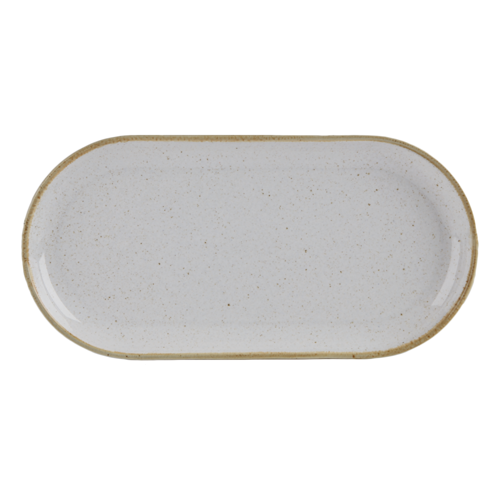 Seasons Stone Narrow Oval Plates 32 x 20cm | Pack of 6