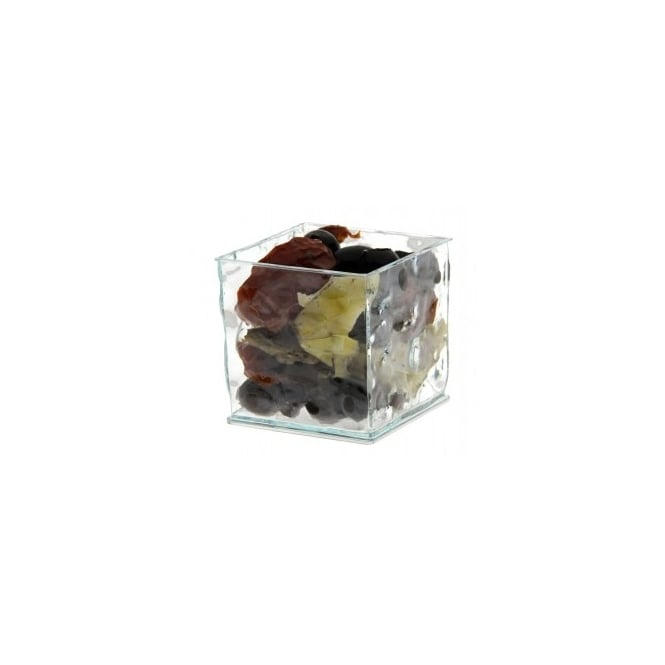 Glass look square cube bowl 18cl