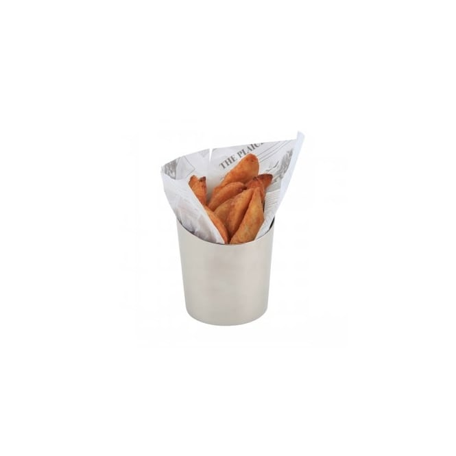 Genware Stainless Steel Angled Cone 11.6 x 9.5cm