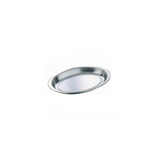 Genware Stainless Steel Oval Banqueting Dish
