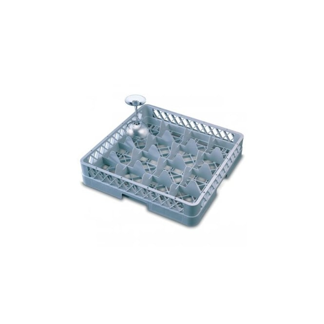 Genware 16 Comp Glass Rack with 4 Extenders