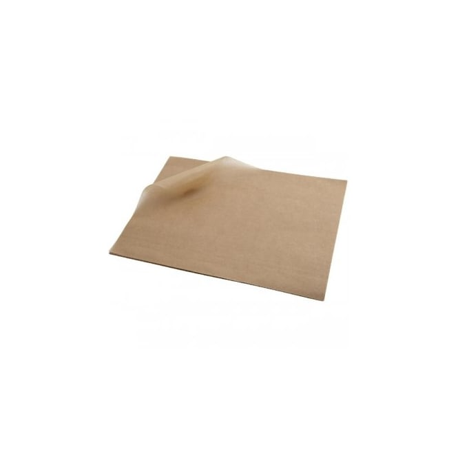 Genware Greaseproof Paper 25x20cm (1000 shts) Brown