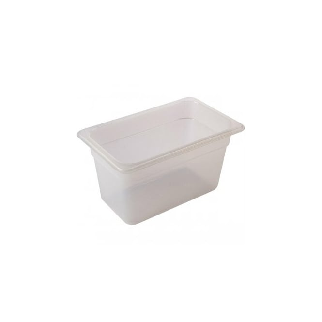 Genware 1/4 -Polypropylene GN Pan 100mm Clear