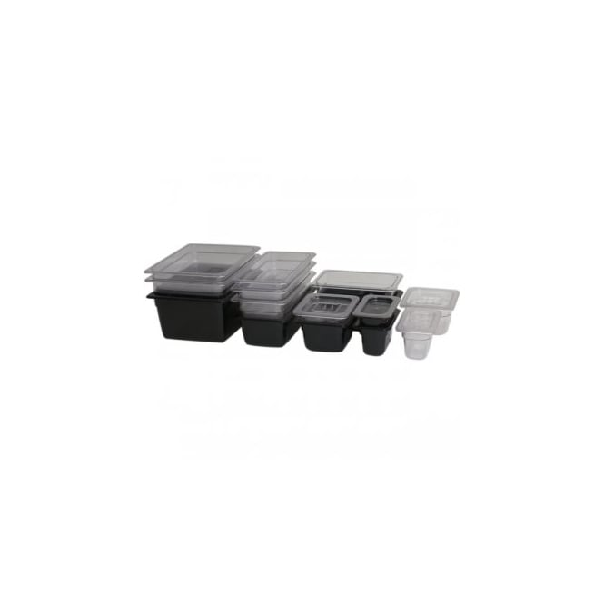 Genware 1/6 -Polycarbonate GN Pan 100mm Black