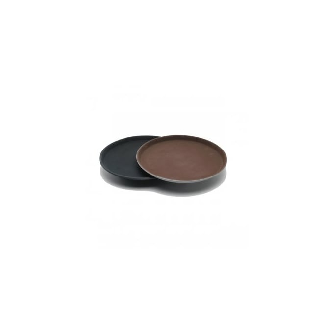 "GenGrip 14"" Round Non-Slip Tray Black"
