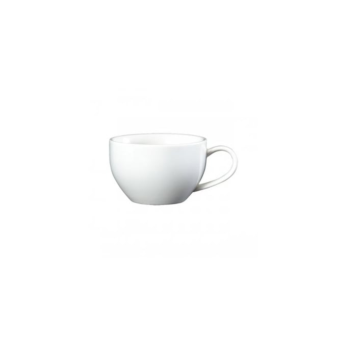 Royal Genware Fine China Bowl Shaped Cup and Saucer 260ml | Pack of 6
