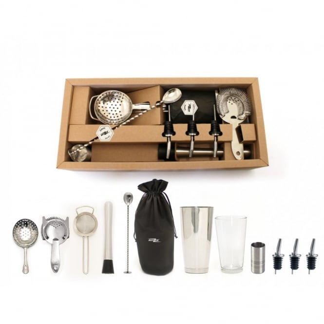 Bonzer Classic Cocktail Bar Kit | 12 Piece Kit