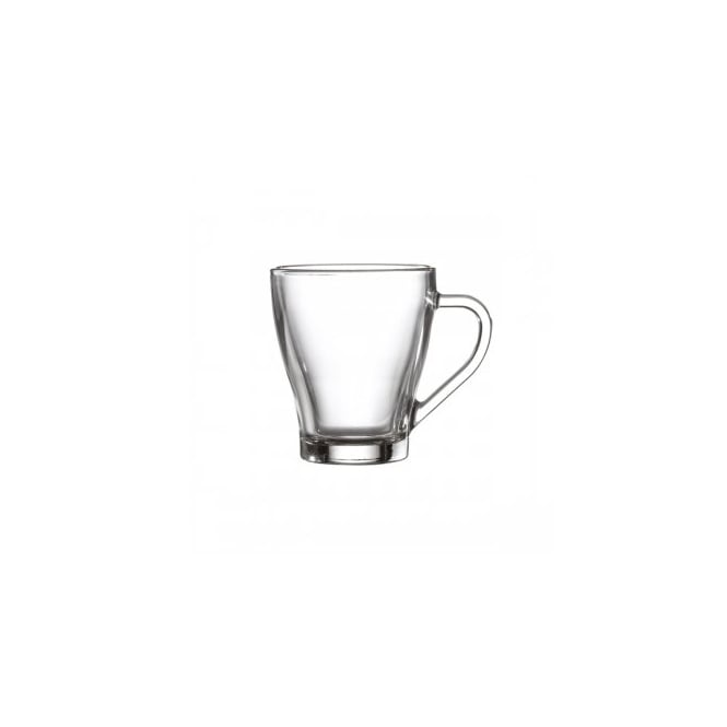 Genware Hollywood Glass Tea/Coffee Cup 265ml | Pack of 12