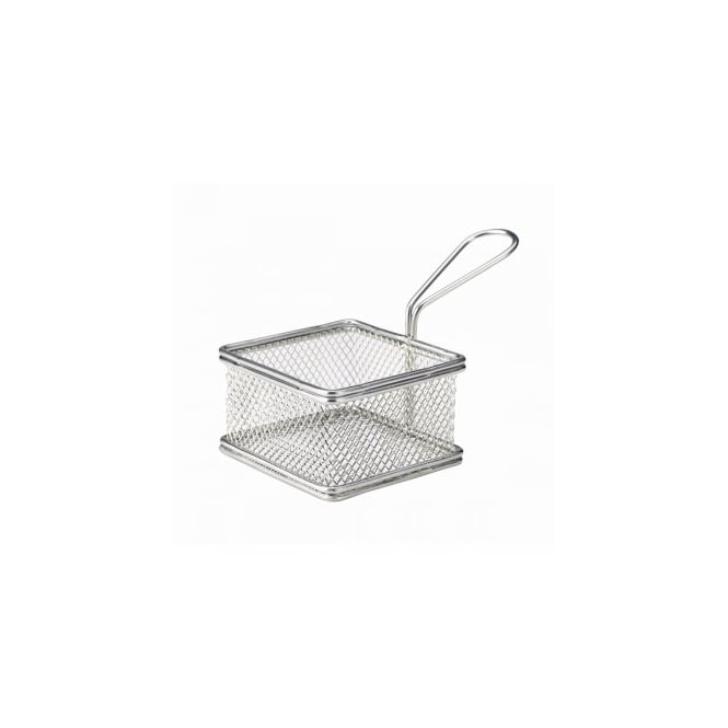 Genware 9.5cm Stainless Steel Serving Basket