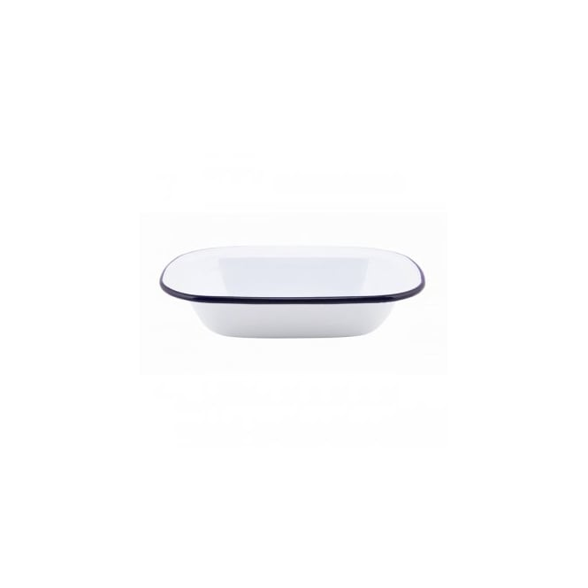Genware 20cm Enamel Rectangular Pie Dish | Pack of 6