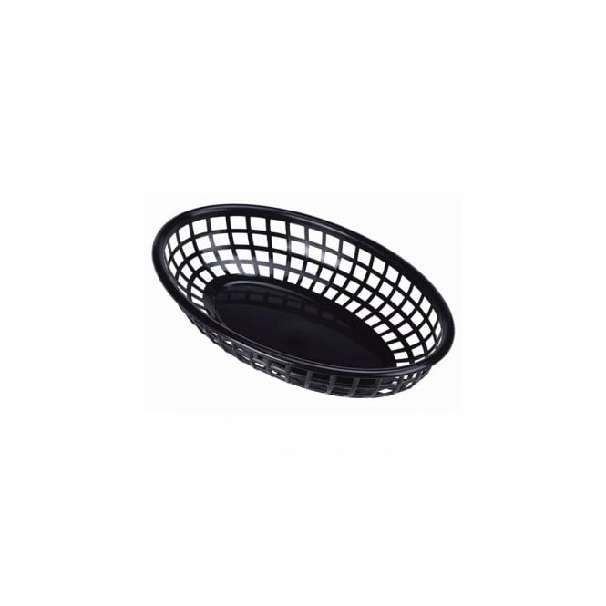 Genware Fast Food Display Basket Black 23.5cm | Pack of 6