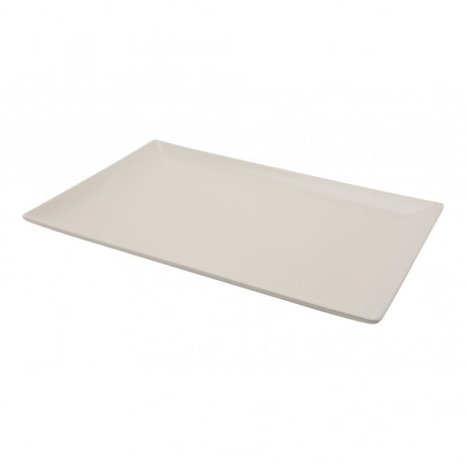 Royal Genware Stoneware Luna Rectangular Coupe Plate 25cm x 15cm | Pack of 6