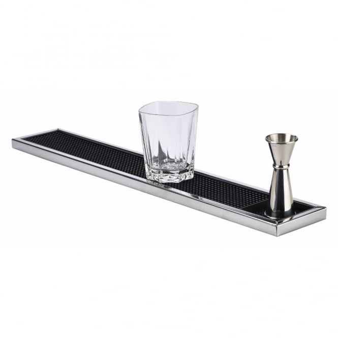 Genware Stainless Steel Framed Bar Mat 60cm