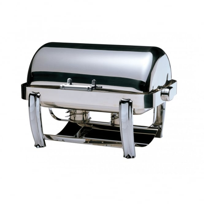 Elia Deluxe Oblong Roll Top Chafing Dish with Chrome Legs