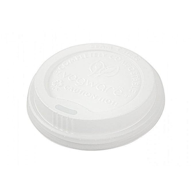 Vegware 89mm CPLA Hot Cup Lid | Pack of 1000