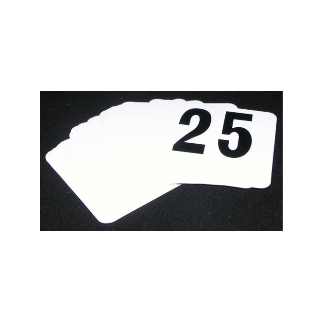 Genware Plastic Table Numbers 1 to 100