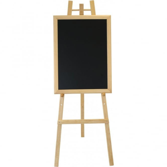 Genware 165cm High Teak Colour Easel for Chalk Boards