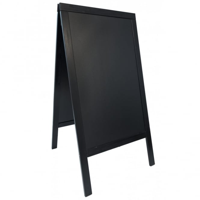 Genware Black Pavement A-Board Chalk Board 70cm x 120cm