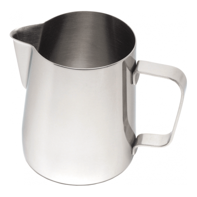 Genware Stainless Steel Conical Milk Frothing Jug 330ml 12oz