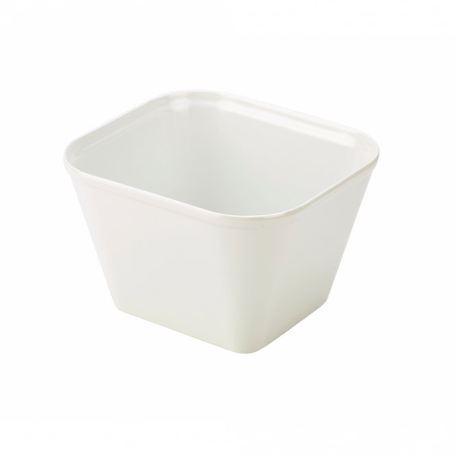 Genware White Melamine Display Dish 17.8cm x 16.2cm