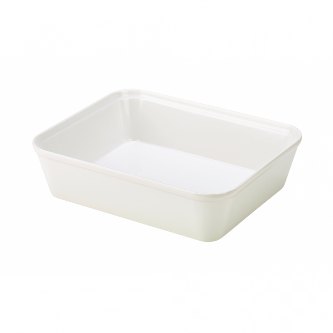 Genware White Melamine Display Dish 24.5cm x 20cm