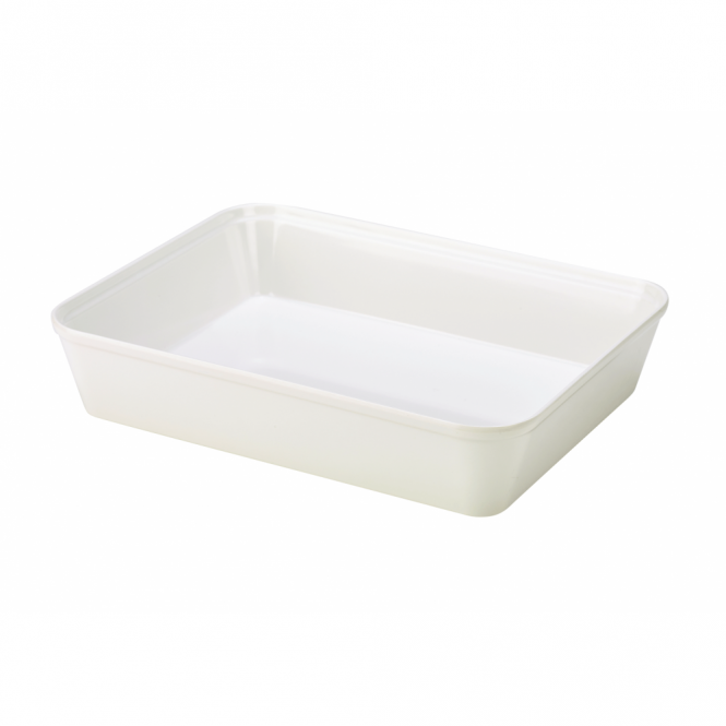 Genware White Melamine Display Dish 31cm x 24cm
