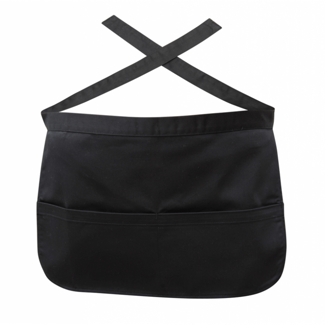 Genware Black Money Pocket Apron