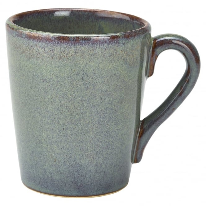 Genware Terra Stoneware Rustic Green Mug 320ml 11.25oz | Pack of 12