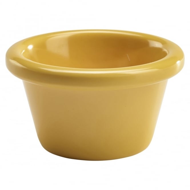 Genware Smooth Melamine Yellow Ramekin 43ml | Pack of 12