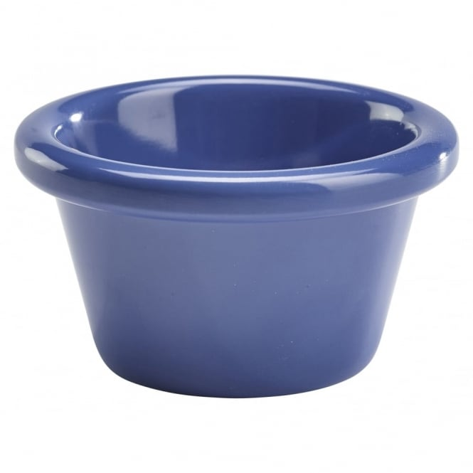 Genware Smooth Melamine Blue Ramekin 85ml | Pack of 12