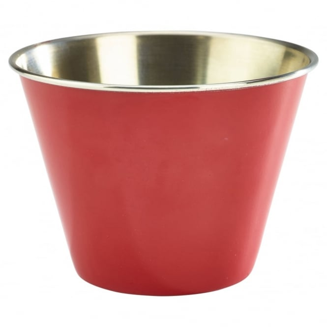 Genware Red Stainless Steel Ramekin 340ml 12oz | Pack of 12