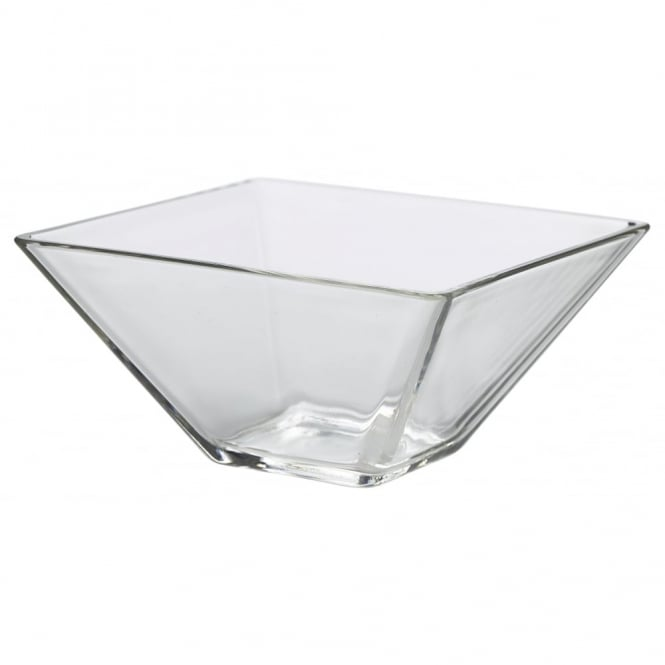 Genware 20cm Square Glass Bowl | Pack of 6