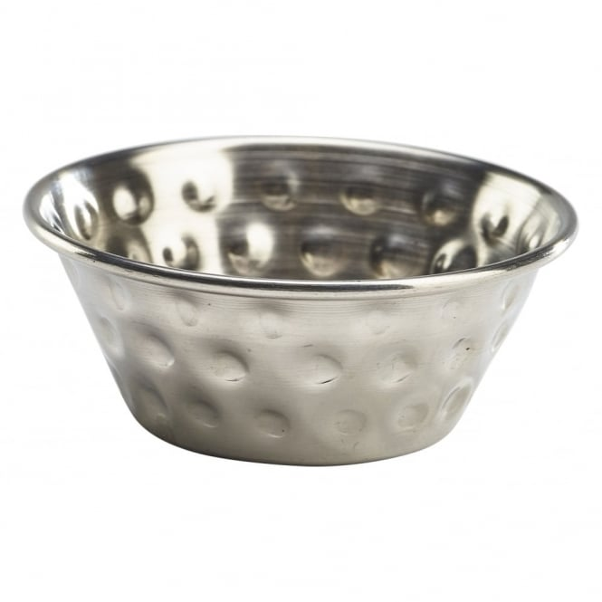Genware Stainless Steel Hammered Ramekin 43ml | Pack of 12