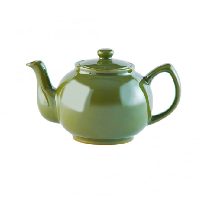 Price & Kensington Brights Olive Green 6 Cup 39oz Teapot | Pack of 6