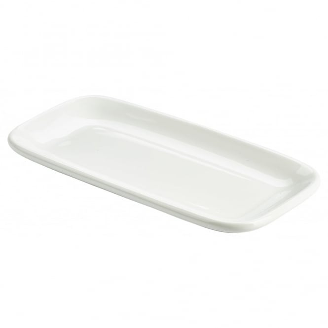Genware Organic Collection 25cm Rectangular Rounded Edge Plates | Pack of 6