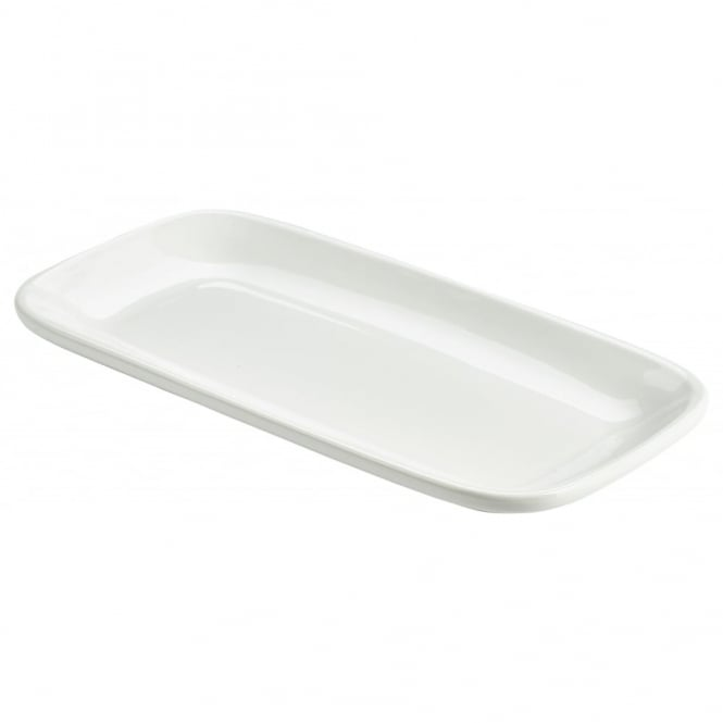 Genware Organic Collection 29.5cm Rectangular Rounded Edge Plates | Pack of 6