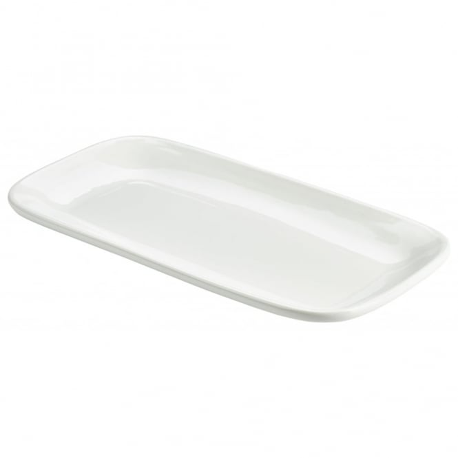 Genware Organic Collection 35cm Rectangular Rounded Edge Plates | Pack of 3