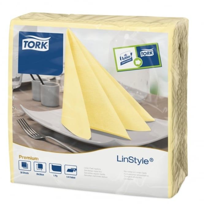 Tork LinStyle Champagne Dinner Napkin 478712 | Pack of 600