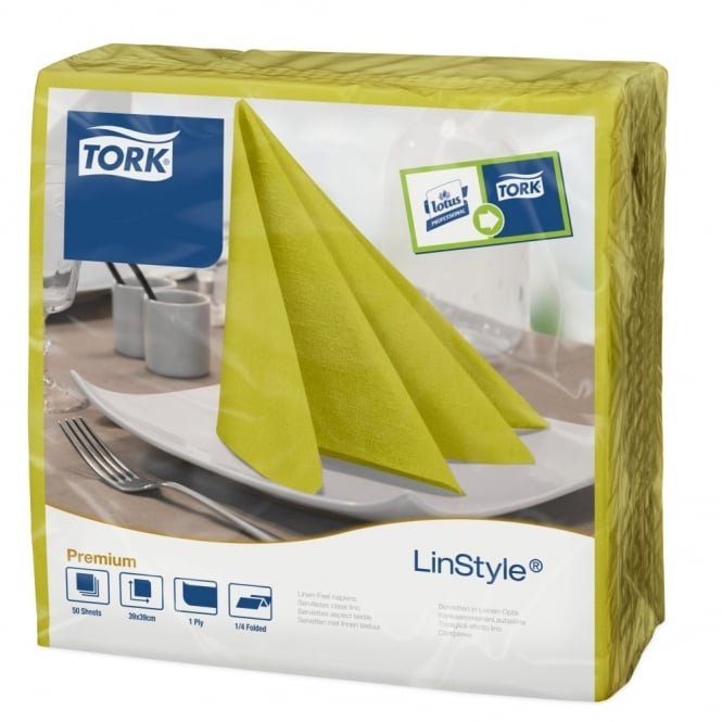 Tork LinStyle Pistachio Dinner Napkin 478876 | Pack of 600