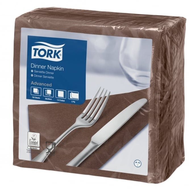 Tork Brown Dinner Napkin 478765 | Pack of 1800