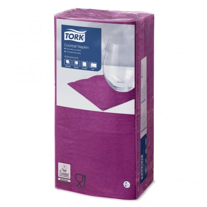 Tork Purple Cocktail Napkin 477833 | Pack of 2400
